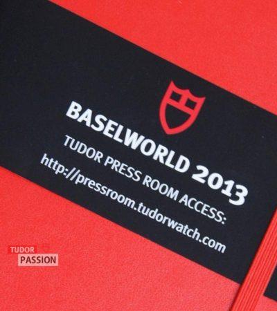 Tudor Moleskine Notizbuch – BASELWORLD 2013