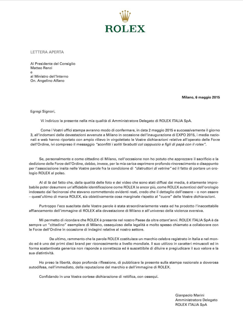 Rolex-Brief-Renzi-Alfano