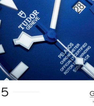 TUDOR Pelagos gewinnt den Sport-Uhren-Preis bei der 2015 Grand Prix d'Horlogerie de Genève.
