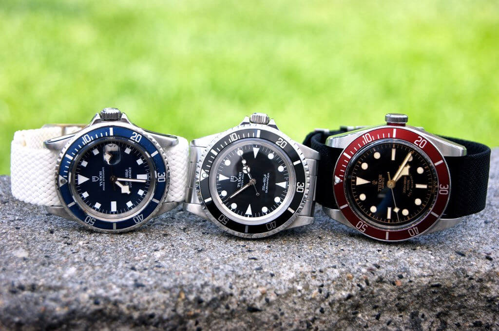 Drei Generationen Tudor Uhren, 70er, 80er und aktuell.