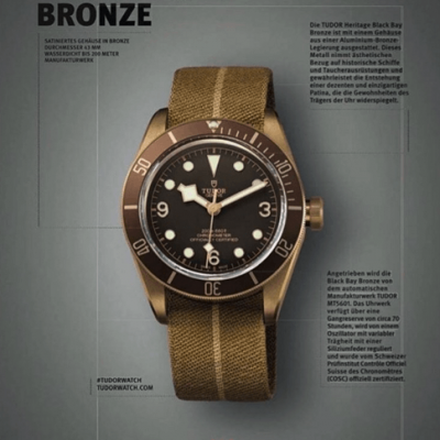 Breaking news – Baselworld – Tudor Black Bay Bronze!