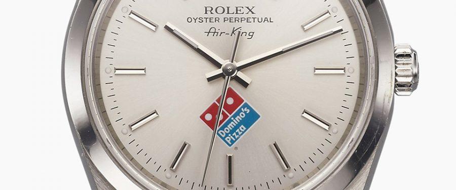 Dies ist die Inside Story hinter dem Domino's Logo auf der Rolex Air King